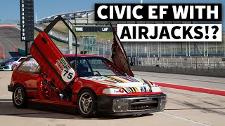 Lambo Doors, Air Jacks, And Tri-Spokes. This Civic EF Has the Hardest Track Car Flex