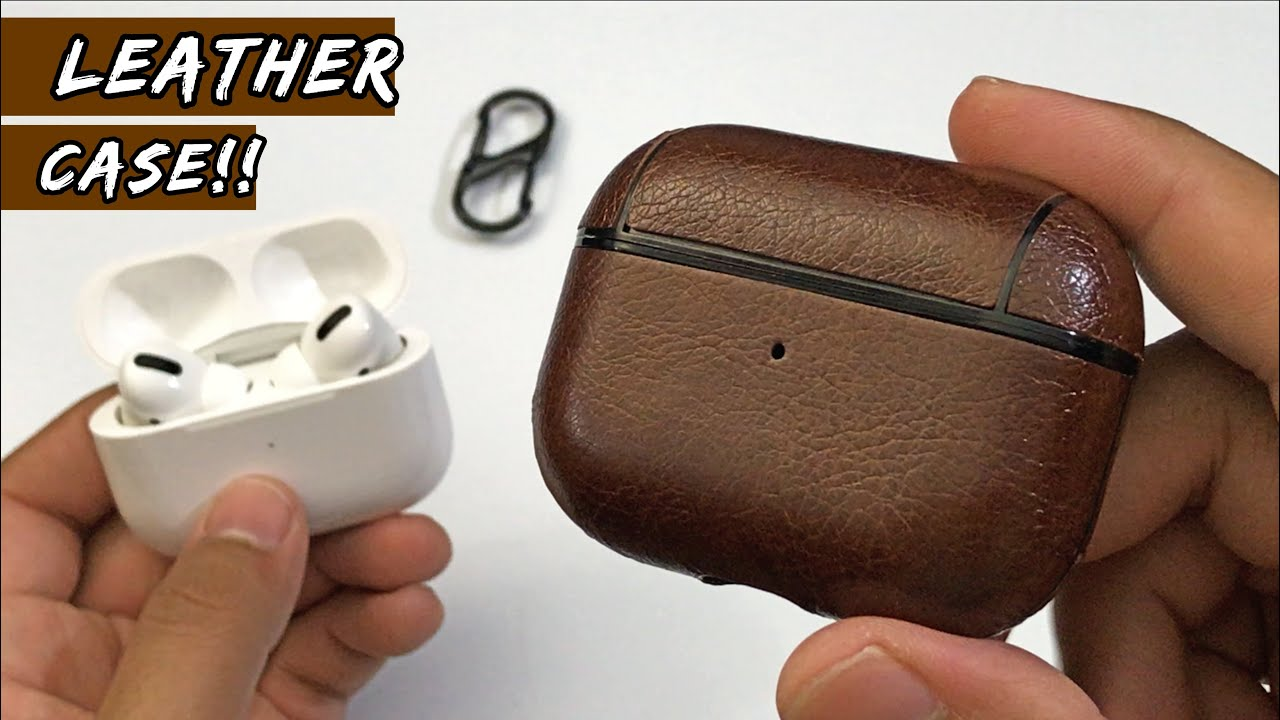 Airpods Pro Leather Holder Bag Case Youtube