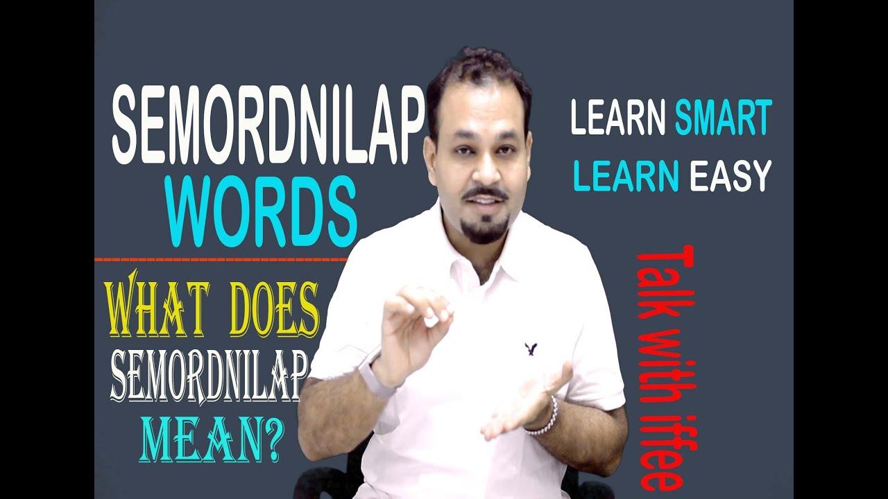 Semordnilap words - What does Semordnilap mean - Learn Smart English