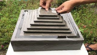 DIY - How to make simple waterfalls from cement