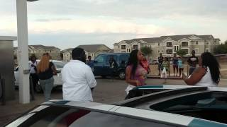 dallas girls hood fight at exxon