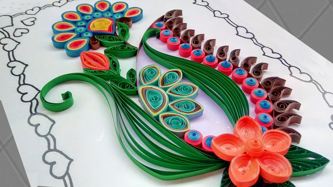 paper quilling  new model design quilling card  for