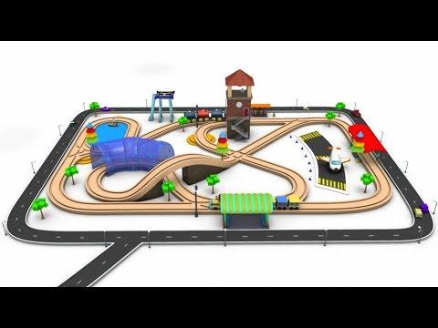 Toy Train Videos for Children - train for kids - cartoon for kids - kids railways - Train