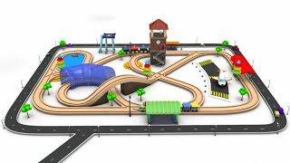Tren de juguete de Videos para Niños - el tren para niños - dibujos animados para los niños - los niños ferrocarriles - Tren