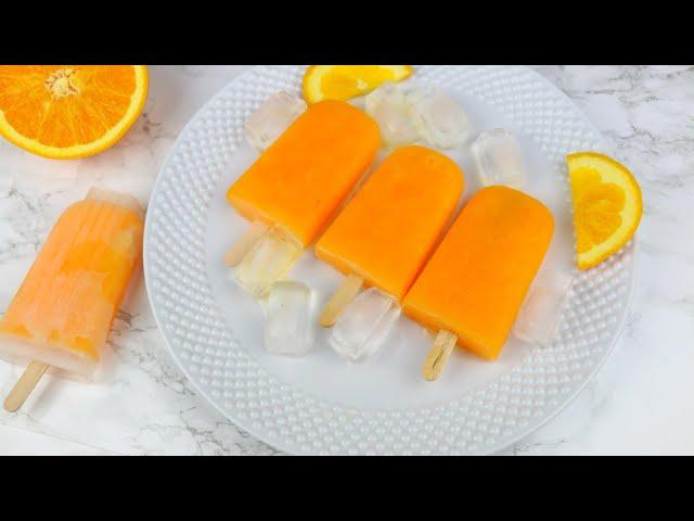 অরেন্জ ললি আইসক্রিম | Bangladeshi Orange Lolly Ice Cream | Lolly Ice Cream Recipe | Summer Ice cream