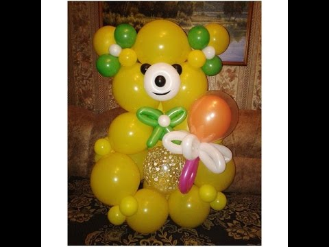Медведь из шаров схема
