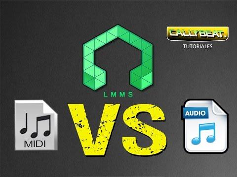 Como importar midi y archivo de Audio para un remix en LMMS ( Midi vs Audio )