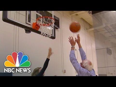 Watch Bernie Sanders Shoots Hoops With Chris Jansing | NBC News