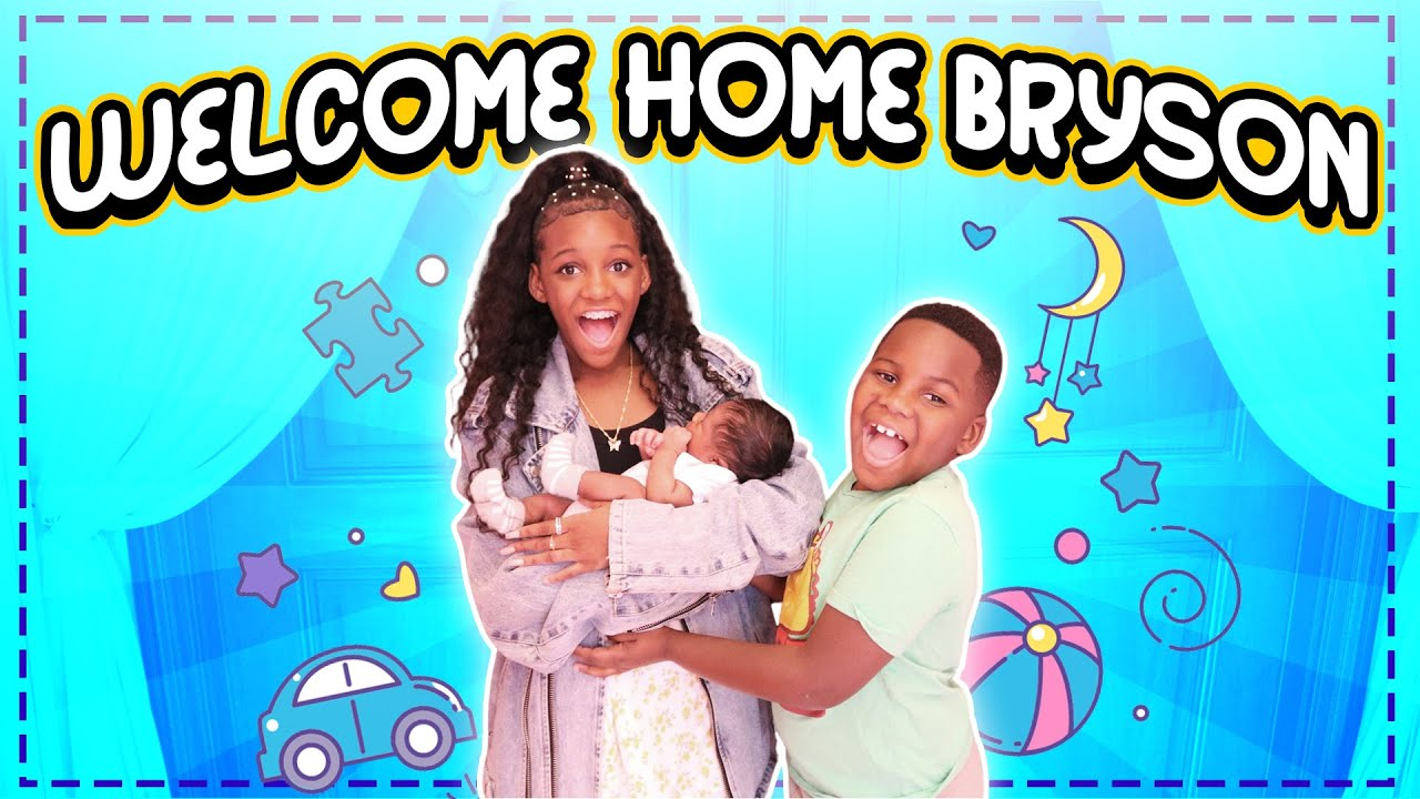 Yaya And Dj Meet Their Baby Brother  For The First Time