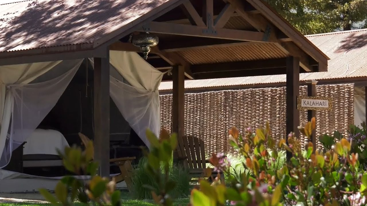 Flying Flags RV Resort Safari Tent Tour