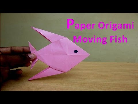 How To Make A Paper Origami Moving Fish Easy Tutorials Youtube