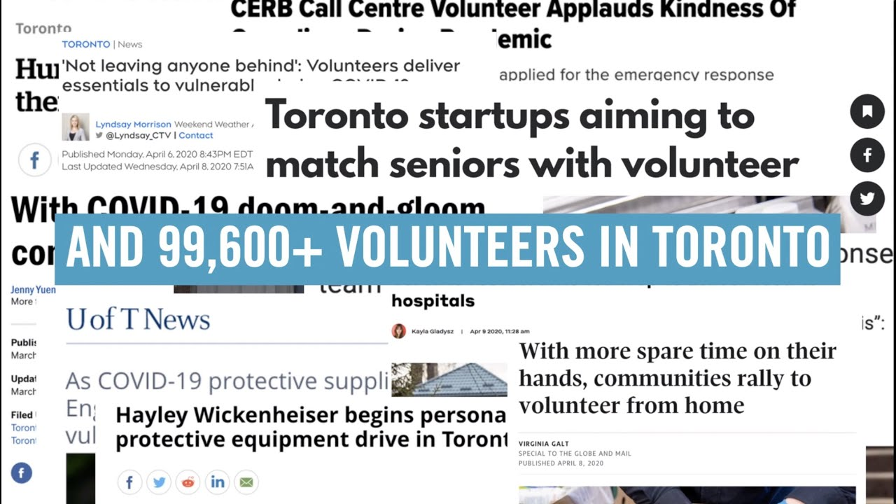 Volunteers Respond To The Covid 19 Pandemic In Toronto Youtube