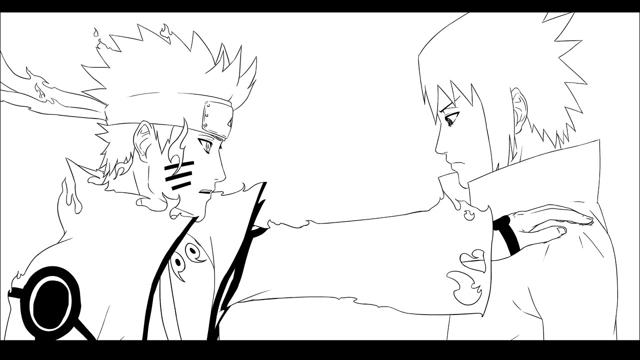 Naruto 2 tails coloring pages coloring pages