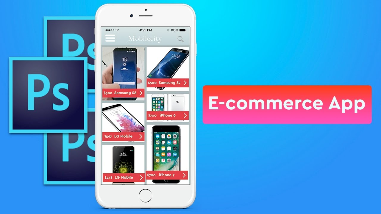 E commerce app design in photoshop youtube for E commerce mobili
