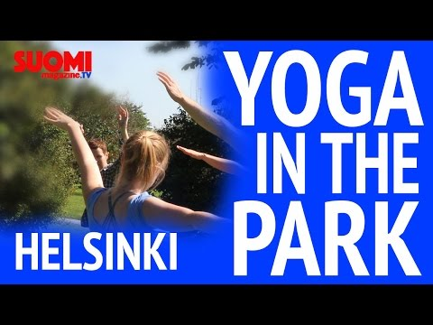 Yoga in the park - Helsinki