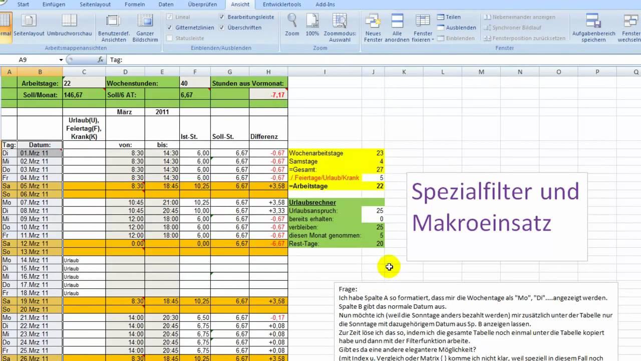 Excel Spezialfilter Mit Einem Makro Abrufen Youtube