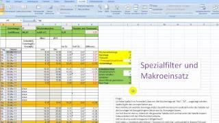 Excel-Spezialfilter mit einem Makro abrufen