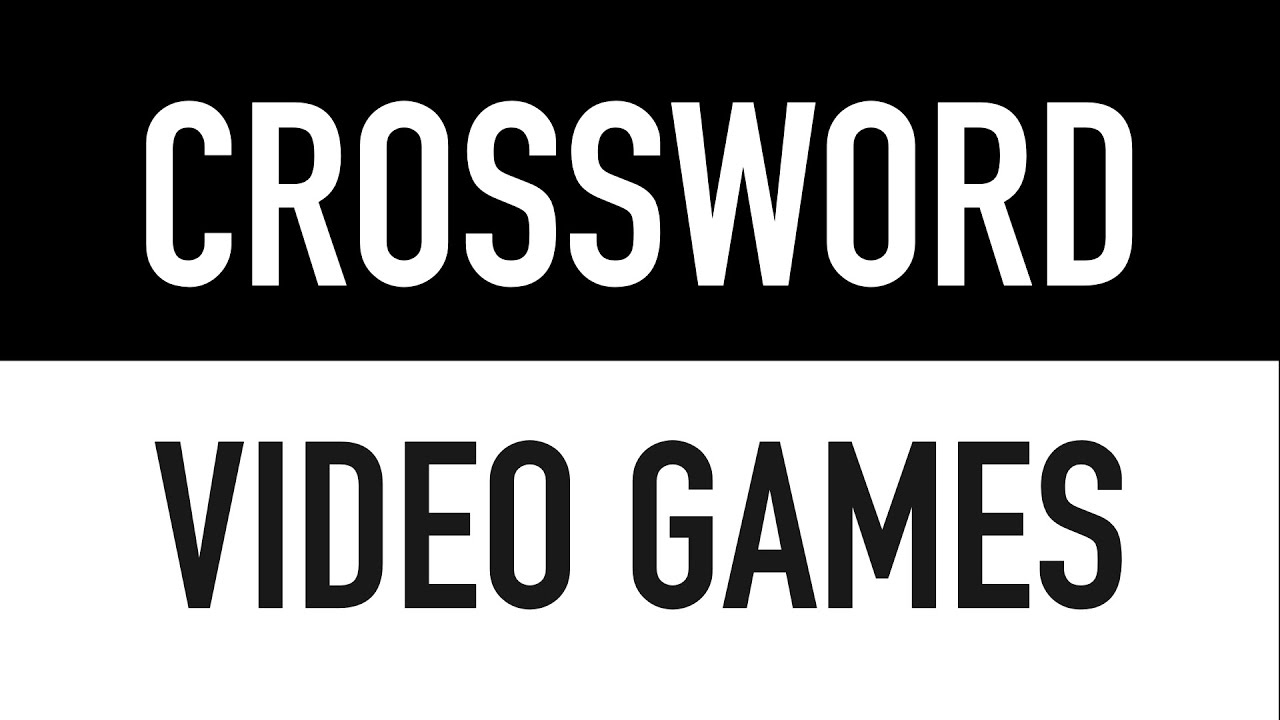 Crossword Puzzles with Answers | Video Games General Knowledge Trivia