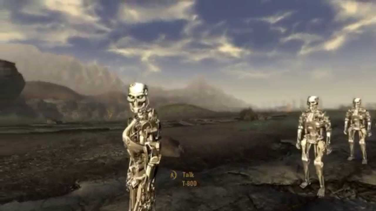 Fallout New Vegas Mods Pc T 800s Vs Super Mutant Behemoths Battle
