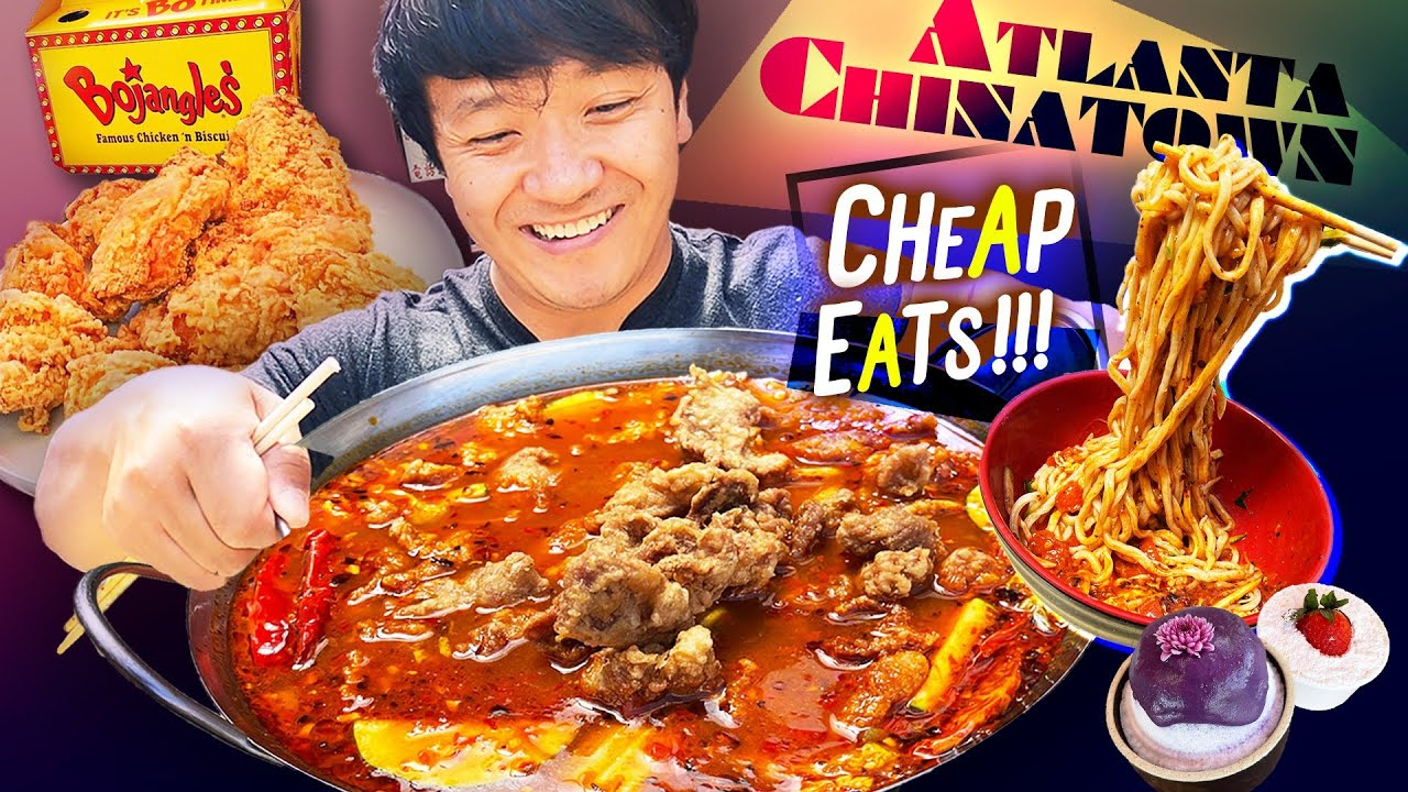 Atlanta CHINATOWN CHEAP EATS & BEST Fast Food FRIED CHICKEN at Bojangles