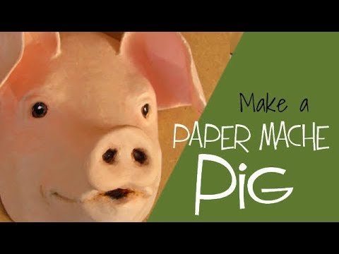 Paper Mache Pig Made With Easy Pattern