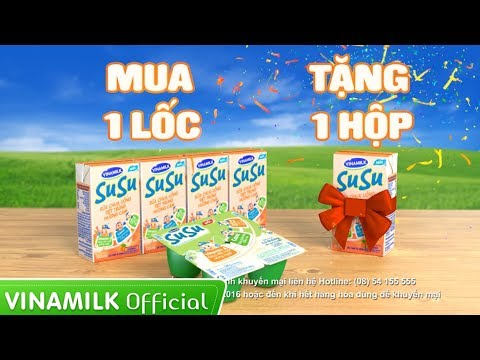 Quảng cáo sữa Vinamilk – Khuyến mãi Sữa chua SuSu – Mua 1 lốc tặng ngay 1 hộp