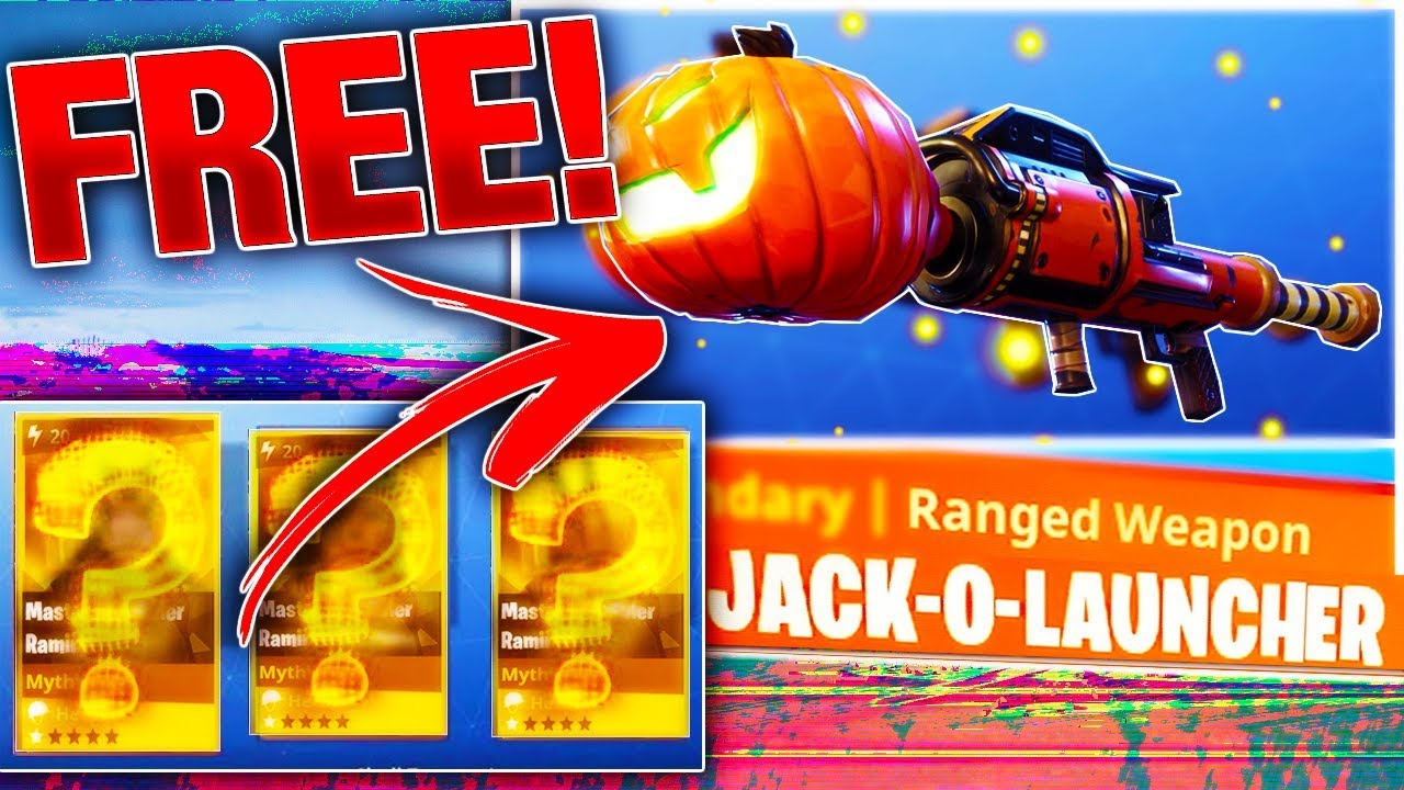 How To Get FREE HIDDEN PUMPKIN LAUNCHER Schematic Fortnite Save The World YouTube