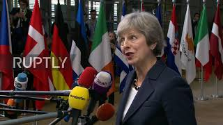 Belgium: Brexit deal 'achievable' says May while arriving at crunch EU summit