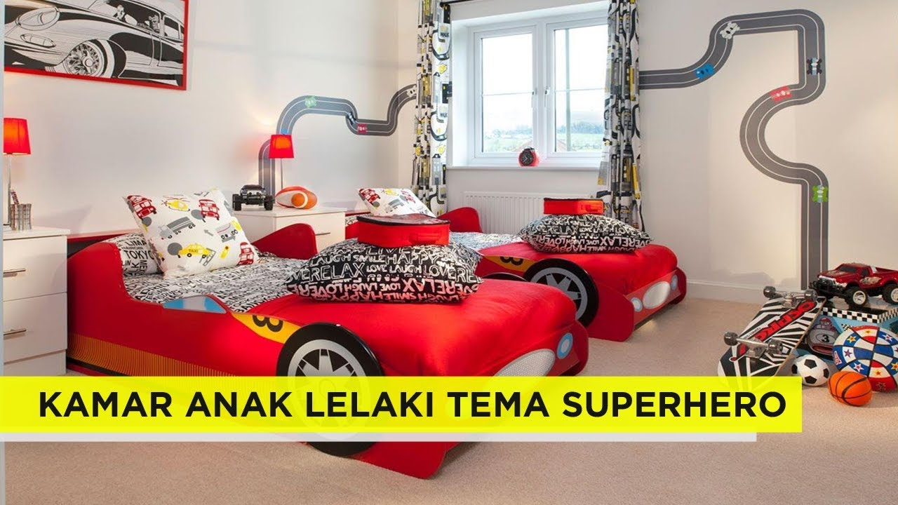 Inilah 41 Ide Dekorasi Kamar Tidur Anak Laki Laki Dengan Tema Superhero Rocky Men Youtube