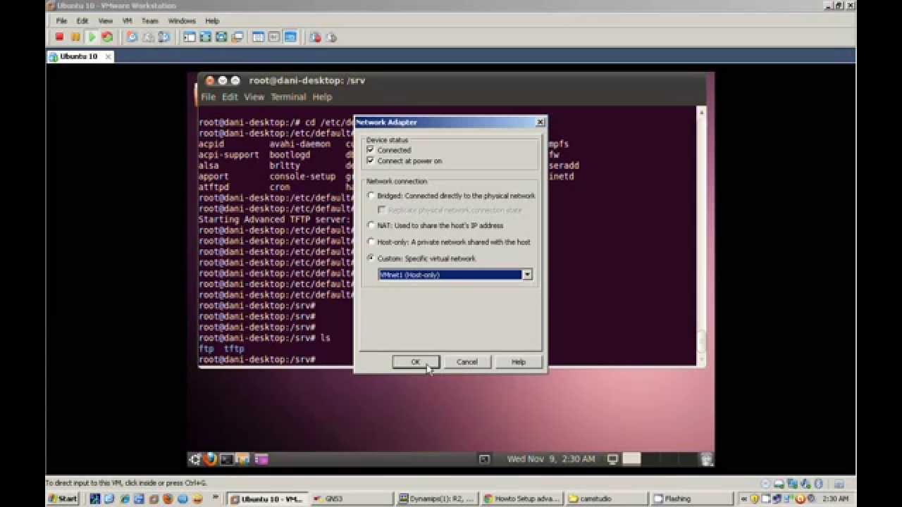 Ubuntu TFTP Server with GNS3 avi