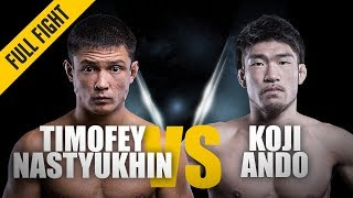 ONE: Full Fight   Timofey Nastyukhin vs. Koji Ando   Dominant Return   August 2017 thumbnail