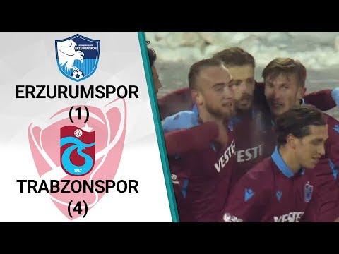 Erzurumspor 1 - 4 Trabzonspor MAÇ ÖZETİ (Ziraat Türkiye Kupası Çeyrek Final Röva