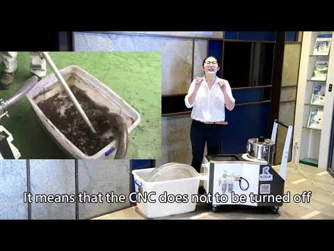 KWF02-CNC coolant tank cleaning-Sludge Cleaner (English)