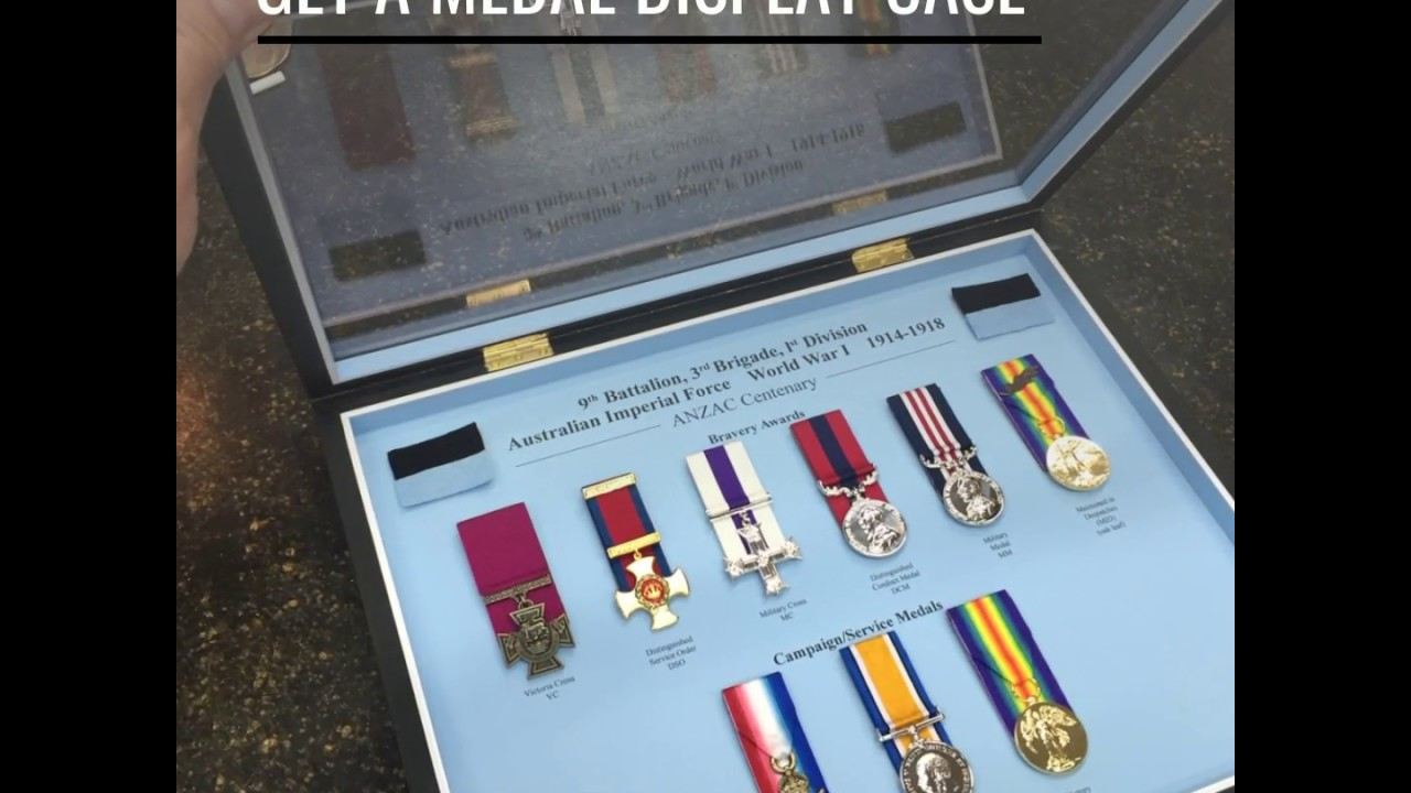 Framing Military Medals in Custom Display Case