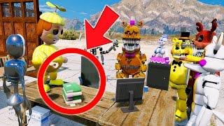 GOLDEN BB PEE ON HOMEWORK PRANK AT SCHOOL! (GTA 5 Mods For Kids FNAF) RedHatter