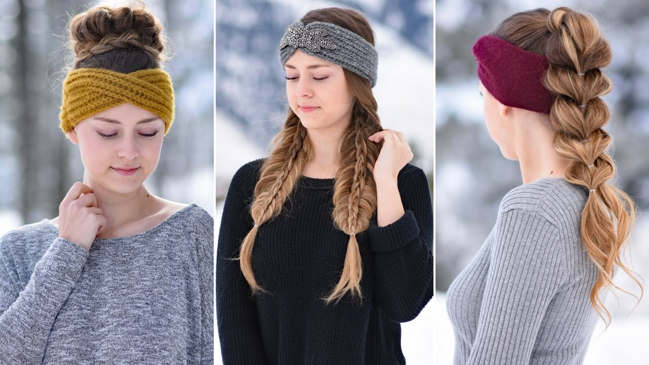 3 Easy Headband Hairstyles | Cute Girls Hairstyles - YouTube