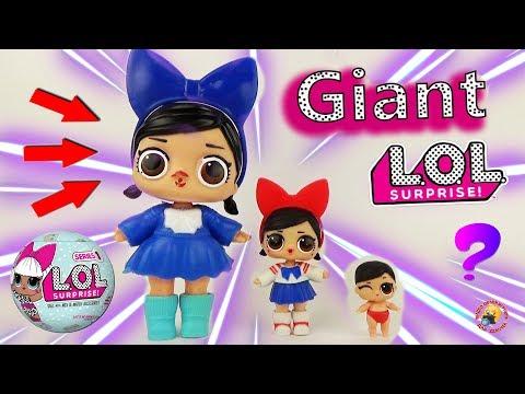 видео: ЛОЛ сюрпризы ГИГАНТЫ куклы подделки светятся! giant fake big lol surprise dolls