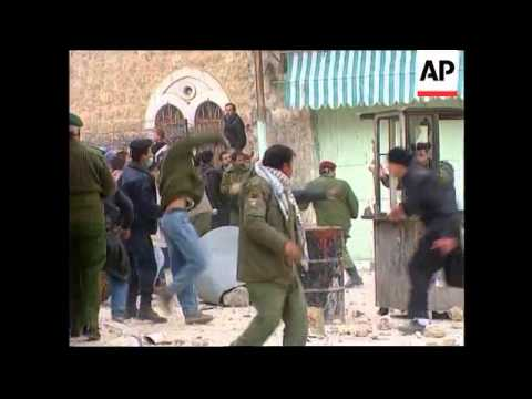 West Bank - Fierce clashes