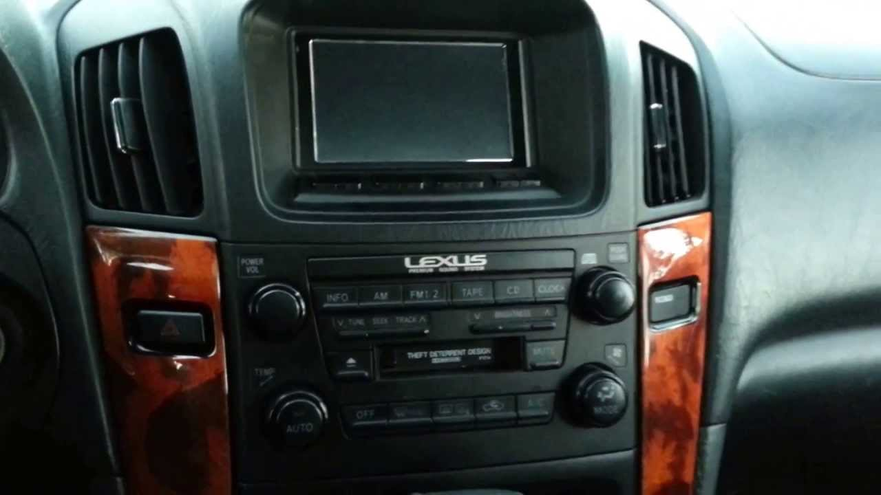 Android tablet installed in a 2000 Lexus RX300 Redux