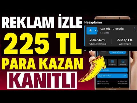 REKLAM İZLEYEREK BİR GÜNDE 225 TL KAZANDIM (KANITLI) - İnternetten Para Kazanma 2020 Basit Yöntem !