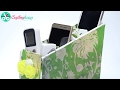 DIY Mobile Box, Stand: Easy to Make Cardboard Desk Organizer | By CrafingHours