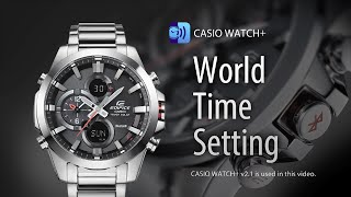 ECB-500 World Time Setting