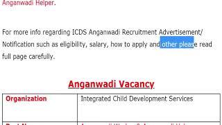 anganwadi vacancy 2019 for worker, helper, teacher, supervisor