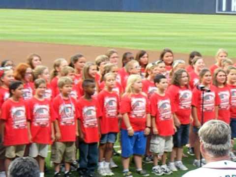 Byron Elementary School Chorus Singing At The Atlanta Braves Game
