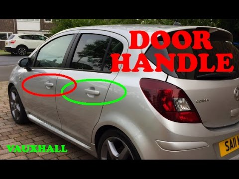 How to remove a DOOR HANDLE front / back Vauxhall Corsa d 06-14 & How to remove a DOOR HANDLE front / back Vauxhall Corsa d 06-14 ...