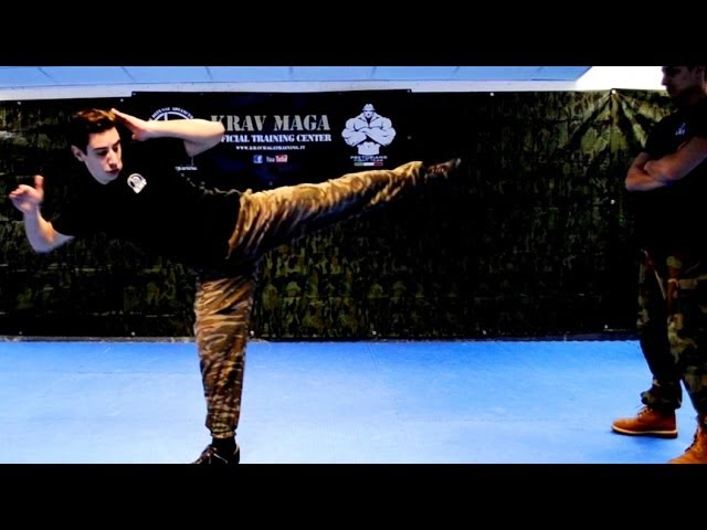 KRAV MAGA TRAINING • How to use Side Kicks in a Real Fight