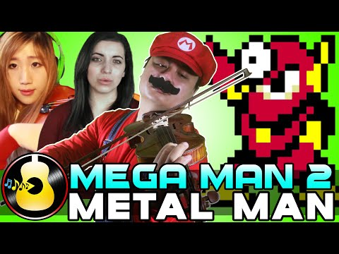 Mega Man 2 - Metal Man Theme ft. xclassicalcatx & TeraCMusic (Orchestral) || String Player Gamer