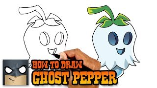 How to Draw Ghost Pepper | Plants vs Zombies