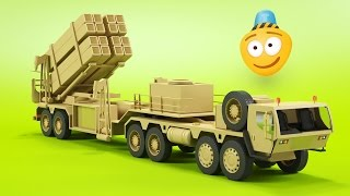 Mobile Rocket Launcher | 3D Army Vehicles For Kids | Missile Launcher | Cartoons for Children