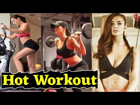 Amy Jackson HOT Workout at GYM | Fitness workout | 2018HD